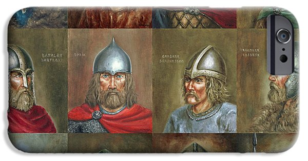 Vikings Paintings iPhone Cases - The Famous Vikings iPhone Case by Arturas Slapsys