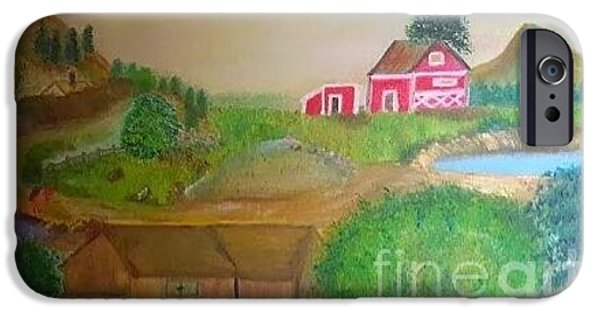 Mounds iPhone Cases - The Farm iPhone Case by Cindy  Riley