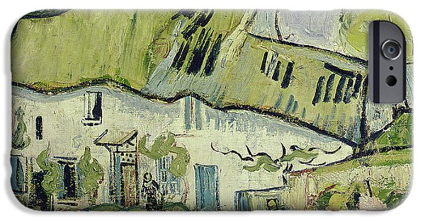 Agricultural iPhone Cases - The Farm in Summer iPhone Case by Vincent van Gogh