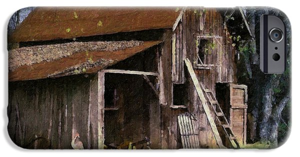 Aged Wood Digital iPhone Cases - The Farm iPhone Case by Teresa Mucha