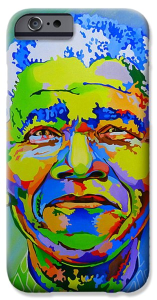 Nation iPhone Cases - The father of the rainbow nation  iPhone Case by Netsa Lemma