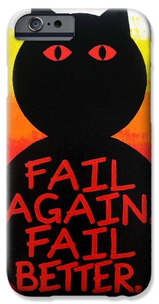 Red Abstract iPhone Cases - The Fearline of Failure iPhone Case by Oliver Johnston