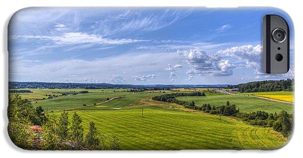 Meadow Photographs iPhone Cases - The Field Scenery iPhone Case by Veikko Suikkanen