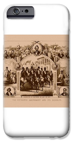 The Fifteenth Amendment And Its Results iPhone Case by War Is Hell Store