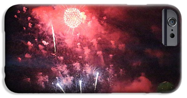Fourth Of July Mixed Media iPhone Cases - The Fireworks iPhone Case by Patricia  Schnepf