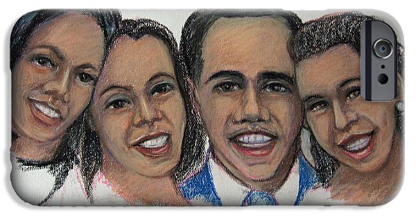 Obama iPhone Cases - The First Family iPhone Case by John Cummings