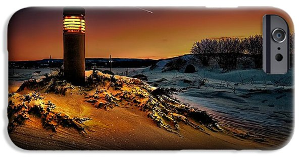 First Star iPhone Cases - The first light at sunset iPhone Case by Jeff S PhotoArt