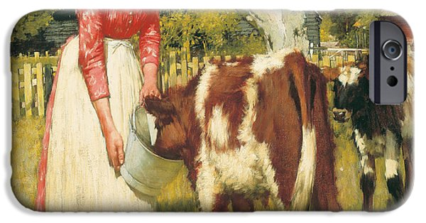 Feeding Young iPhone Cases - The First Meal iPhone Case by Henry Herbert La Thangue