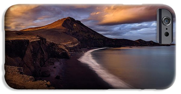Red Rock iPhone Cases - The Firt Dawn iPhone Case by Alister Benn