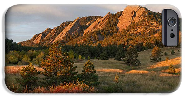 Front Range iPhone Cases - The Flatirons - Autumn iPhone Case by Aaron Spong