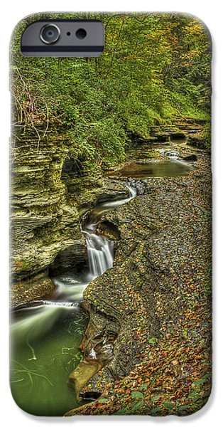 Buttermilk Falls iPhone Cases - The Flow iPhone Case by Evelina Kremsdorf