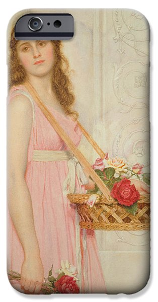 Daydream iPhone Cases - The Flower Seller iPhone Case by George Lawrence Bulleid