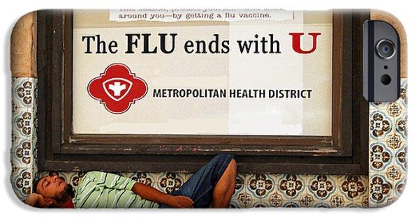 Flu iPhone Cases - The Bug Stops Here iPhone Case by Joe Jake Pratt