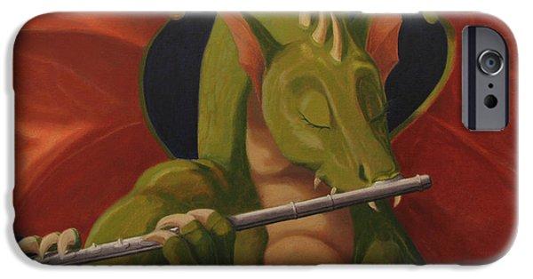 Leonard Filgate iPhone Cases - The Flute Player iPhone Case by Leonard Filgate