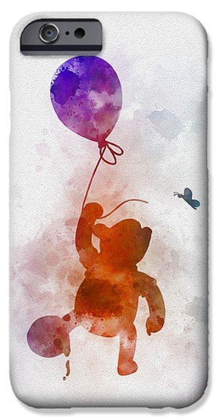 Recently Sold -  - Animation iPhone Cases - The Flying Bear iPhone Case by Rebecca Jenkins