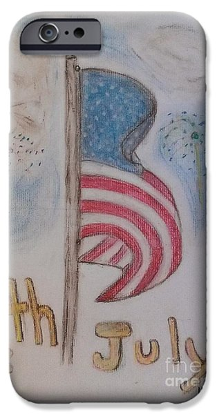 Flag Pastels iPhone Cases - The Forth  iPhone Case by Hannah Johnson