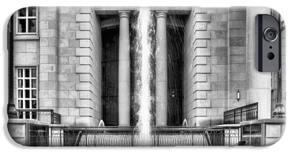 Hattiesburg iPhone Cases - The Fountain at Trent Lott National Center iPhone Case by JC Findley