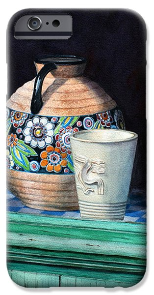 Ledge iPhone Cases - The French Potters Window iPhone Case by Jan Lawnikanis