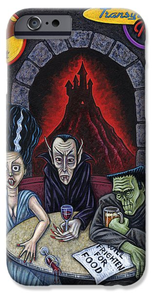 Table Wine iPhone Cases - The Fried of Blankenstein iPhone Case by Holly Wood