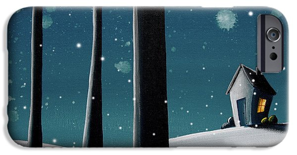Night iPhone Cases - The Frost iPhone Case by Cindy Thornton