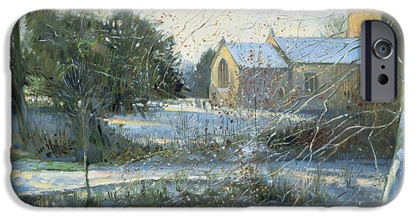 Recently Sold -  - East Village iPhone Cases - The Frozen Moat - Bedfield iPhone Case by Timothy Easton