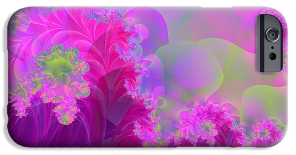 Fractal Paintings iPhone Cases - The Futility of Reason iPhone Case by Mindy Sommers