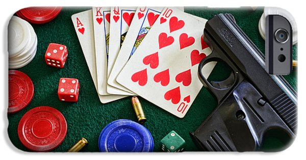 Chip iPhone Cases - The Gambler iPhone Case by Paul Ward