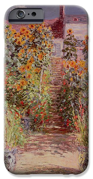 Florals iPhone Cases - The Garden at Vetheuil iPhone Case by Claude Monet