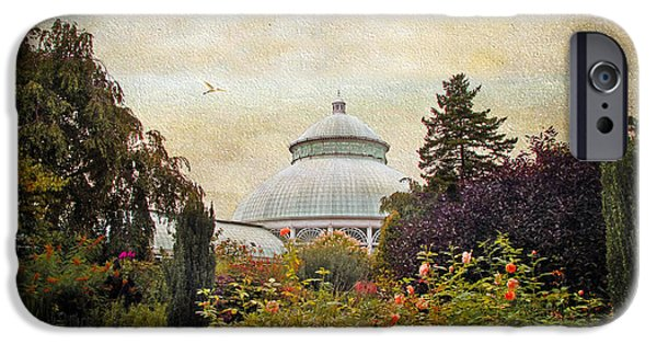 Structure iPhone Cases - The Garden Conservatory iPhone Case by Jessica Jenney
