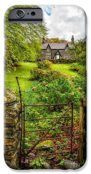 House iPhone Cases - The Garden Gate iPhone Case by Adrian Evans