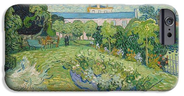 Van Gogh iPhone Cases - The Garden of Daubigny iPhone Case by Vincent van Gogh