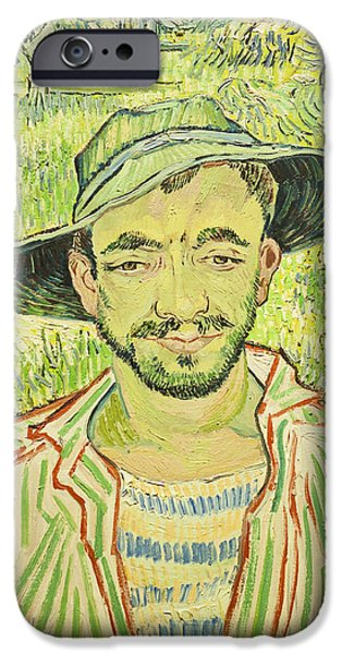 Young iPhone Cases - The Gardener or Young Peasant iPhone Case by Vincent Van Gogh