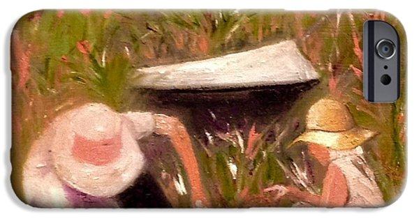 Gray Hair iPhone Cases - The Gardeners  iPhone Case by Yolanda Terrell