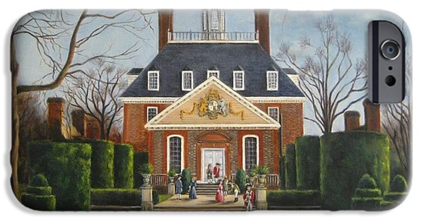 Yorktown Virginia iPhone Cases - The Gardens of the Governors Palace iPhone Case by Gulay Berryman