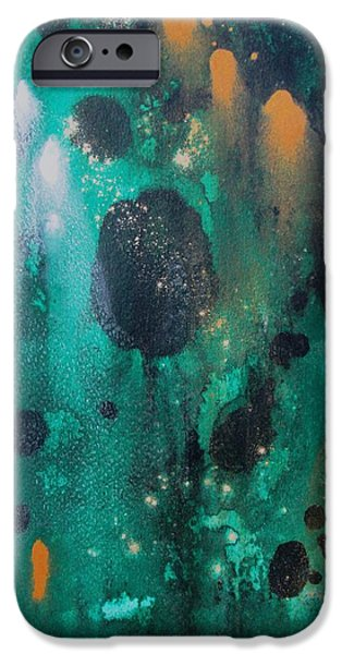 Business Paintings iPhone Cases - The Gathering iPhone Case by Louise Adams