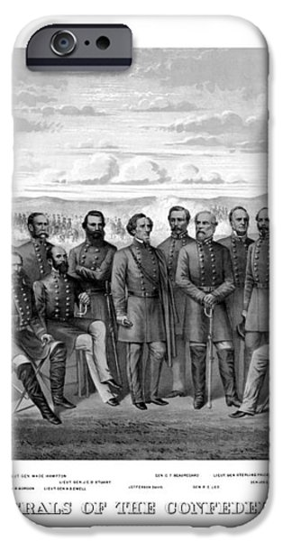 The Generals Of The Confederate Army iPhone Case by War Is Hell Store