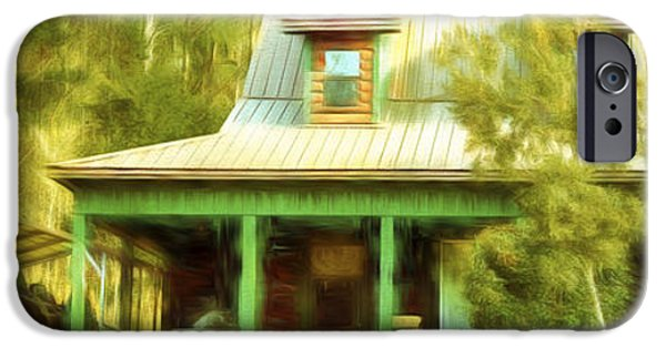 Thoreaus Cabin iPhone Cases - The Getaway - Digital Painting iPhone Case by Barry Jones