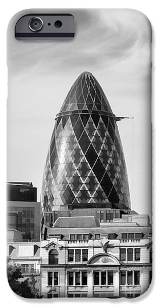 Facade iPhone Cases - The Gherkin iPhone Case by Diane Macdonald