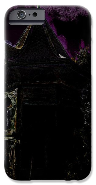 Haunted House iPhone Cases - The Ghost Guest House iPhone Case by Steve Taylor