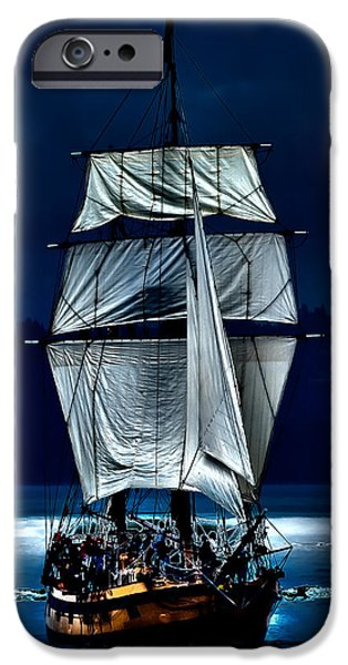 Pirate Ships Photographs iPhone Cases - The Ghost Ship iPhone Case by David Patterson