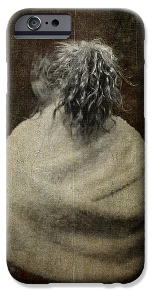 Artistic Portraiture iPhone Cases - The Girl with Silver Hair iPhone Case by Loriental Photography