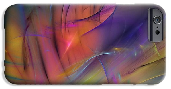 Flame Fractal iPhone Cases - The Gloaming iPhone Case by David Lane