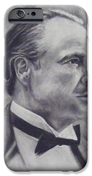 Vito Corleone iPhone Cases - The Godfather iPhone Case by Cynthia Campbell