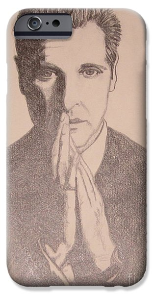 Michael Corleone Drawings iPhone Cases - The Godfather III iPhone Case by Kimberly Witz