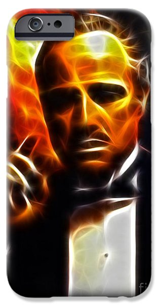 Crime iPhone Cases - The Godfather iPhone Case by Pamela Johnson