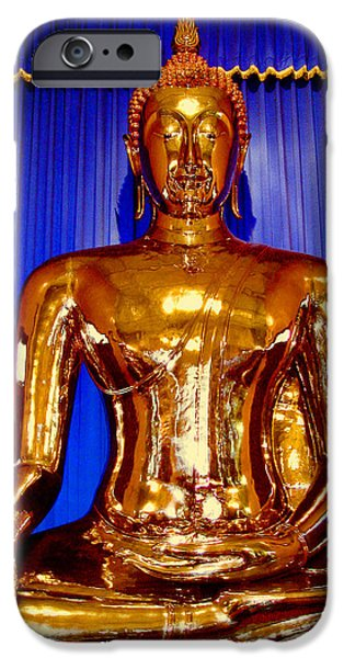 Allegoric iPhone Cases - The Golden Buddha. Bangkok. Thailand. iPhone Case by Andy Za
