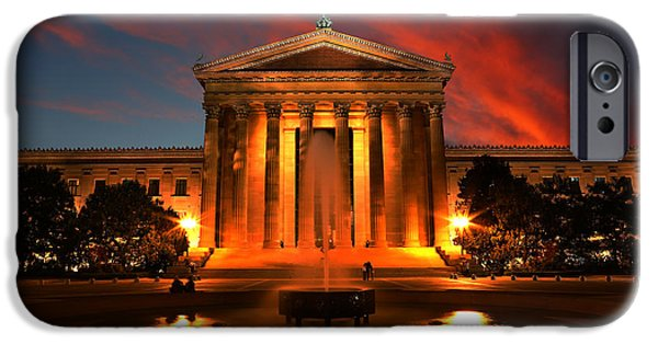 Recently Sold -  - Franklin iPhone Cases - The Golden Columns - Philadelphia Museum of Art - Sunset iPhone Case by Lee Dos Santos