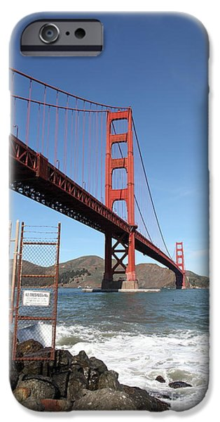 The Golden Gate Bridge at Fort Point - 5D21473 iPhone Case by Wingsdomain Art and Photography