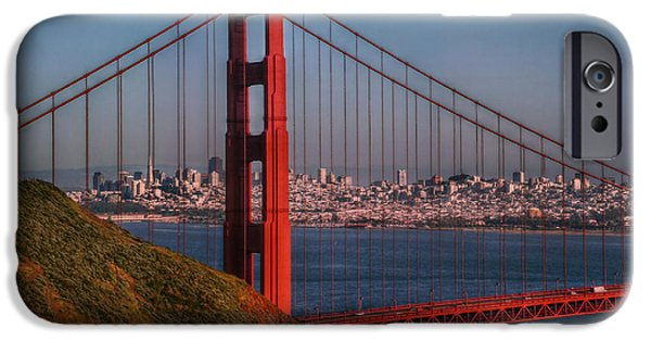 Sausalito iPhone Cases - The Golden Gate iPhone Case by Hanny Heim