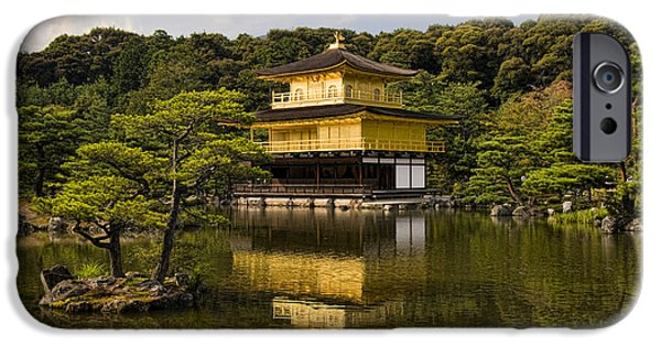 Ponds iPhone Cases - The Golden Pagoda in Kyoto Japan iPhone Case by David Smith